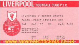 1985-86 div1 m34 LIVERPOOL 6 OXFORD UTD 0 [ms]