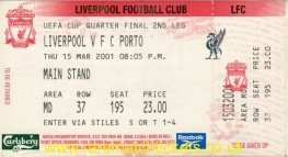 2000-01 uefa qf 2nd LIVERPOOL 2 PORTO 0 (unused) [ms]