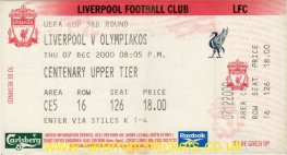 2000-01 uefa r3 2nd LIVERPOOL 2 OLYMPIAKOS 0 (unused) [cu]