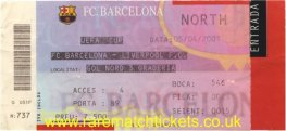 2000-01 uefa sf 1st BARCELONA 0 LIVERPOOL 0 (unused)