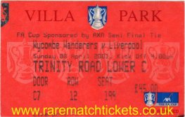 2000-01 fac sf LIVERPOOL 2 WYCOMBE WANDERERS 1 [VILLA PARK]