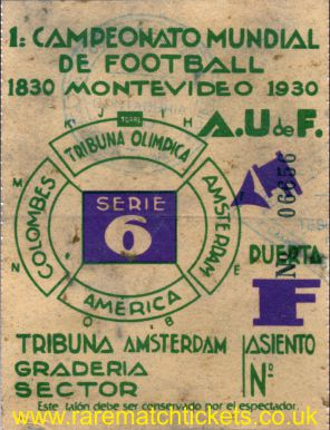 1930 wc sf ARGENTINA 6 USA 1