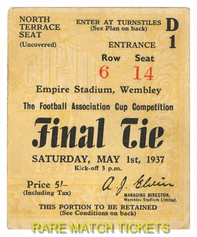 1937 fac final SUNDERLAND 3 PRESTON NORTH END 1
