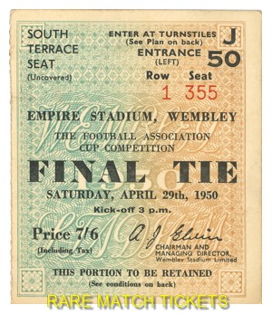 1950 fac final ARSENAL 2 LIVERPOOL 0