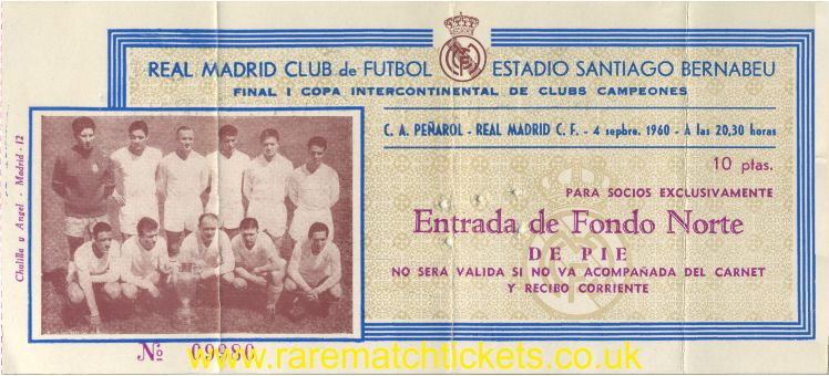 1960 ic final 2nd REAL MADRID 5 PENAROL 1