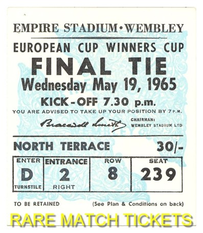 1965 cwc final WEST HAM UTD 2 1860 MUNICH 0