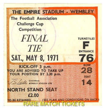 1971 fac final ARSENAL 2 LIVERPOOL 1