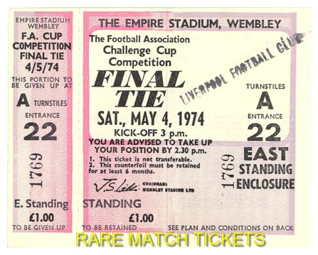 1974 fac final LIVERPOOL 3 NEWCASTLE UTD 0 (unused)