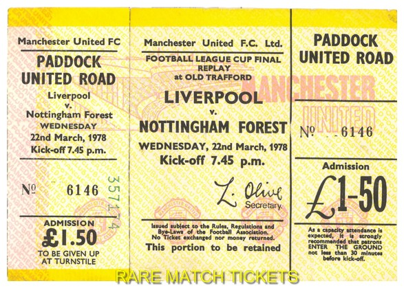 1978 lc final replay NOTTINGHAM FOREST 1 LIVERPOOL 0 (unused)