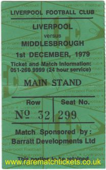 1979-80 div1 m17 LIVERPOOL 4 MIDDLESBROUGH 0 [ms]