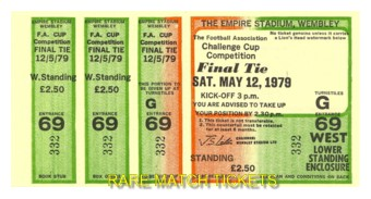 1979 fac final ARSENAL 3 MANCHESTER UTD 2 (unused)