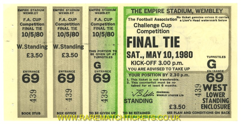 1980 fac final WEST HAM UTD 1 ARSENAL 0 (unused) [west]