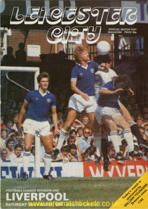 1980-81 div1 LEICESTER CITY 2 LIVERPOOL 0