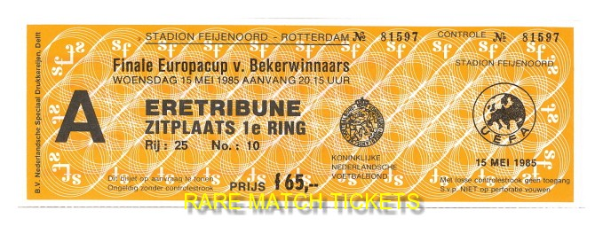 1985 cwc final EVERTON 3 RAPID VIENNA 1 (unused)