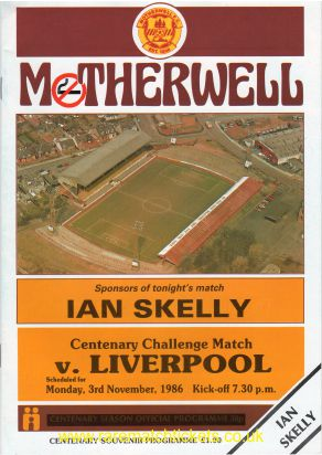 1986-11-03 MOTHERWELL 1 LIVERPOOL 1
