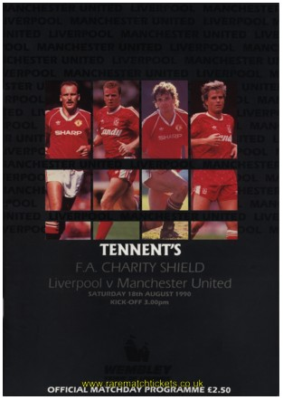 1990 charity shield LIVERPOOL 1 [s] MANCHESTER UTD 1