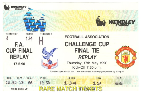 1990 fac final replay MANCHESTER UTD 1 CRYSTAL PALACE 0 (unused)
