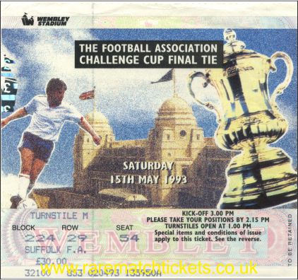 1993 fac final ARSENAL 1 SHEFFIELD WEDNESDAY 1