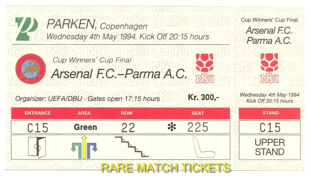 1994 cwc final ARSENAL 1 PARMA 0 (unused)