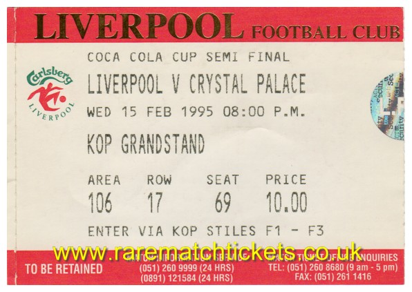 1994-95 sf1 LIVERPOOL 1 CRYSTAL PALACE 0