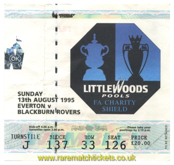 1995 cs EVERTON 1 BLACKBURN ROVERS 0