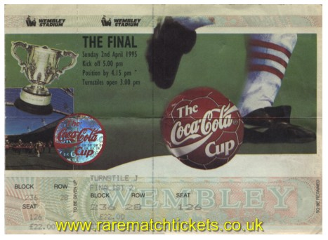 1995 lc final LIVERPOOL 2 BOLTON WANDERERS 1 (unused)