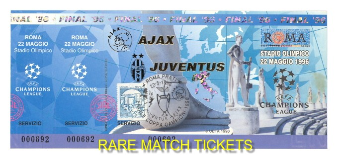 1996 cl final JUVENTUS 1 AJAX 1 (unused)