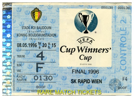 1996 cwc final PARIS ST GERMAIN 1 RAPID VIENNA 0 (unused) [blue]