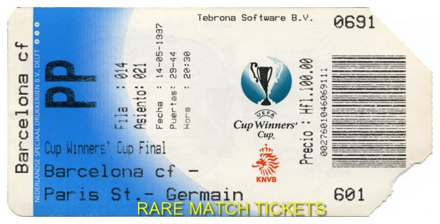 1997 cwc final BARCELONA 1 PARIS SAINT GERMAIN 0