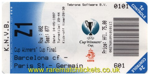 1997 cwc final BARCELONA 1 PARIS SAINT GERMAIN 0 (unused)
