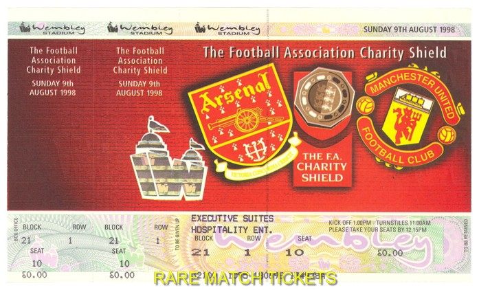 1998 cs ARSENAL 3 MANCHESTER UTD 0 (unused)