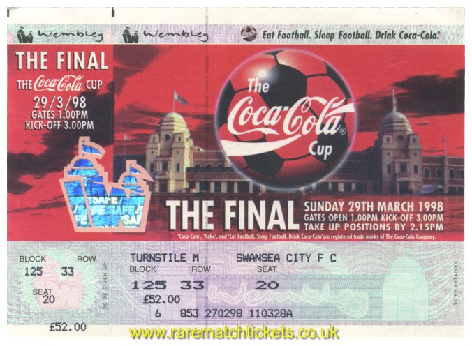 1998 lc final CHELSEA 2 MIDDLESBROUGH 0 (unused)