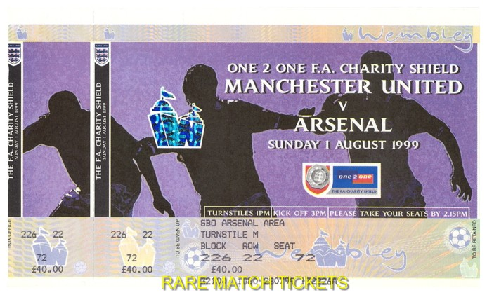 1999 cs [ARSENAL] 2 MANCHESTER UTD 1 (unused)