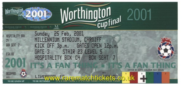 2001 lc final [LIVERPOOL] 1 BIRMINGHAM CITY 1 (unused)