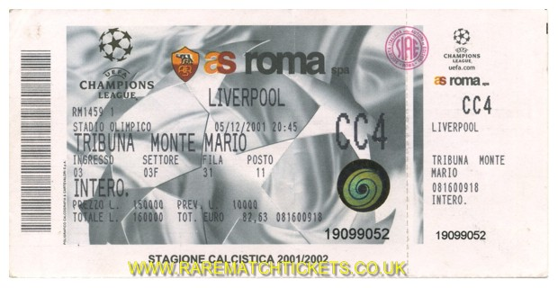 2001-02 cl st2 grB m2 ROMA 0 LIVERPOOL 0 (unused)