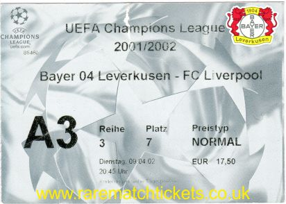 2001-02 cl qf2 BAYER LEVERKUSEN 4 LIVERPOOL 2
