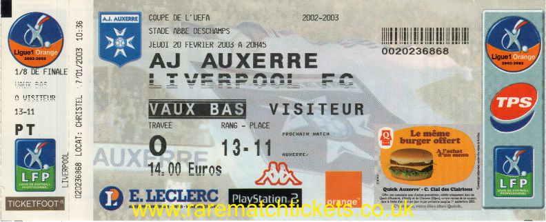 2002-03 uefa r4 1st AUXERRE 0 [LIVERPOOL] 1 (unused)