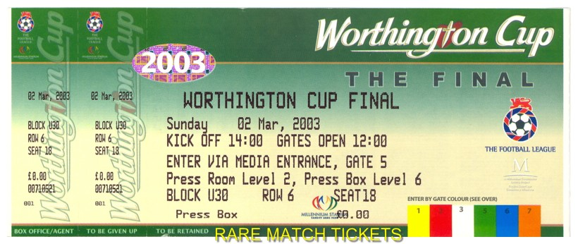 2003 lc final LIVERPOOL 2 MANCHESTER UTD 0 (unused)