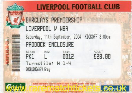 2004-05 EPL LIVERPOOL 3 WEST BROMWICH ALBION 0