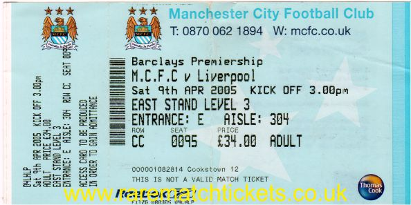 2004-05 EPL MANCHESTER CITY 1 LIVERPOOL 0