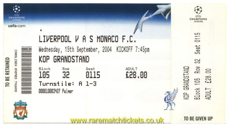 2004-05 cl grA m1 LIVERPOOL 2 MONACO 0 (unused) [kop]