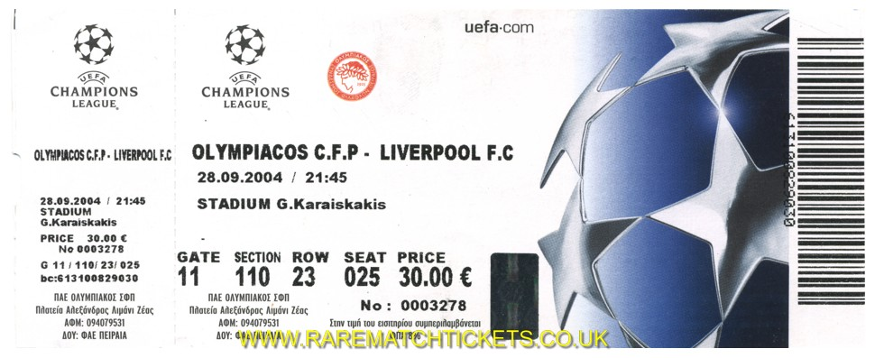 2004-05 cl grA m2 OLYMPIAKOS 1 LIVERPOOL 0 (unused)