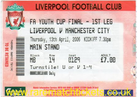 2005-06 FAYC final 1st LIVERPOOL 3 MANCHESTER CITY 0