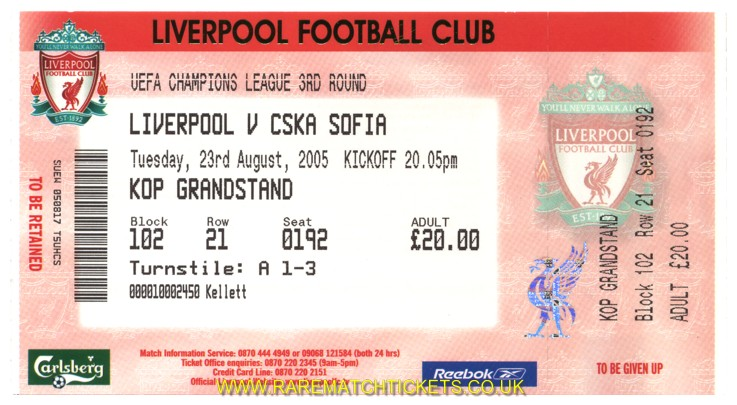 2005-06 cl 3q 2nd LIVERPOOL 0 CSKA SOFIA 1 (unused) [kop]