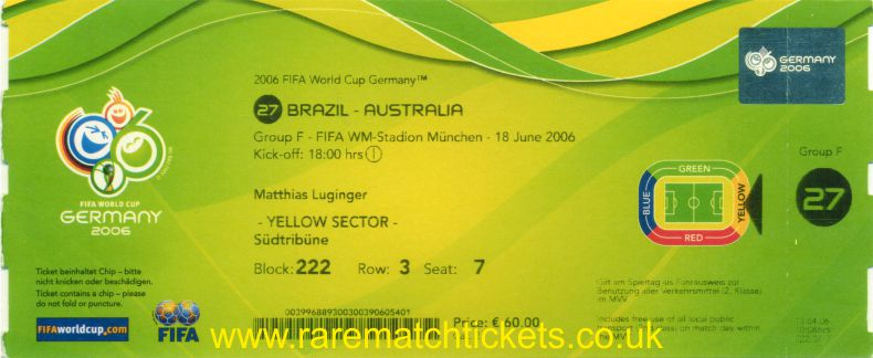 2006 wc grF m2 BRAZIL 2 AUSTRALIA 0 (unused)