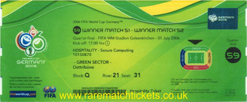 2006 wc qf PORTUGAL 0 ENGLAND 0 (unused)