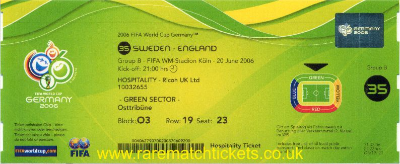 2006 wc grB m3 ENGLAND 2 SWEDEN 2 (unused)