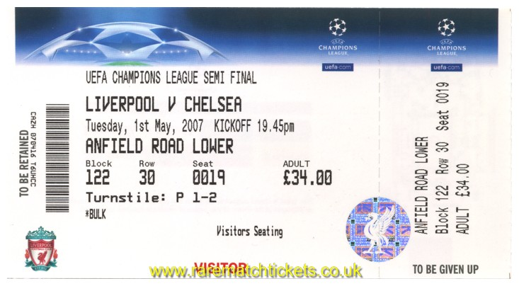 2006-07 cl sf2 LIVERPOOL 1 [CHELSEA] 0 (unused) [arl]