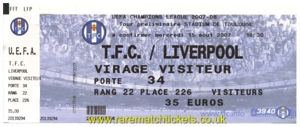 2007-08 cl 3q 1st TOULOUSE 0 [LIVERPOOL] 1 (unused)