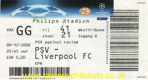2008-09 cl grD m6 PSV 1 LIVERPOOL 3 (unused)